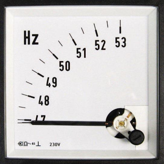 Drehspul-Messgeräte für Frequenz