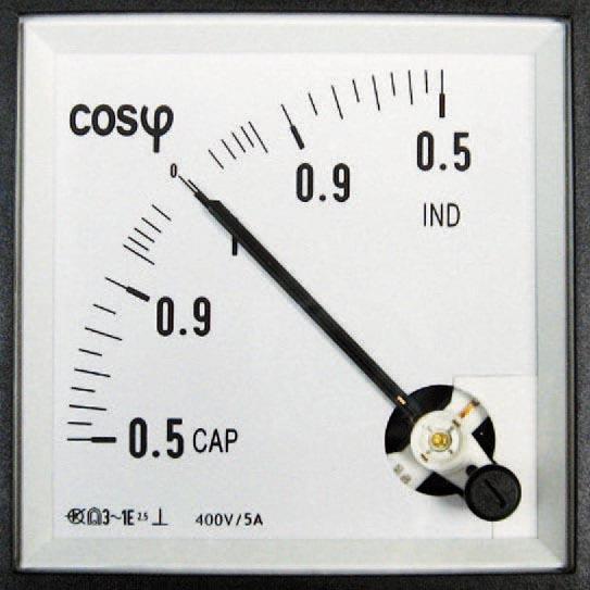 Drehspul Messgeräte für Leistungsfaktor